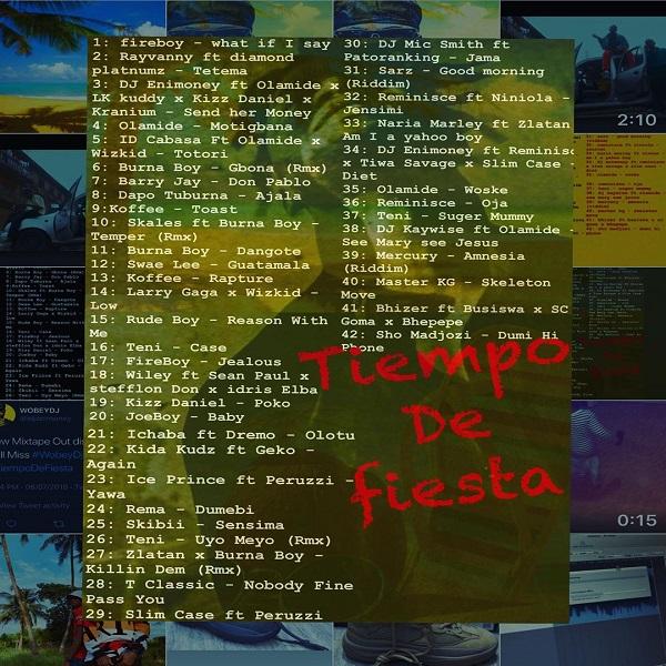 DJ Enimoney Tiempo De Fiesta Mix Tracklist