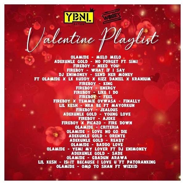 DJ Enimoney Valentines Playlist