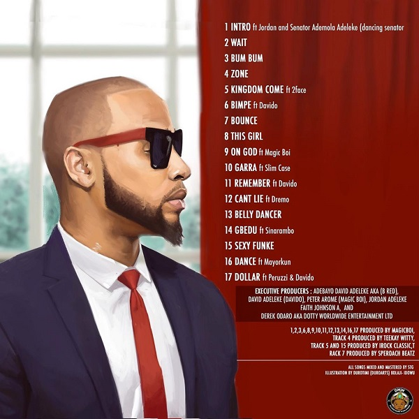 B Red Jordan Tracklist