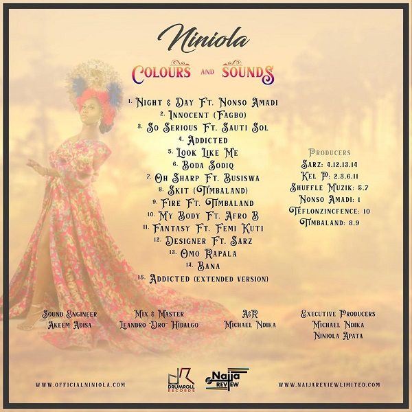 Niniola Colours & Sounds Tracklist