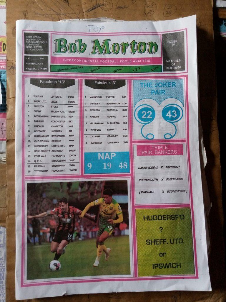 Week 12 Bob Morton 2020 Page 1