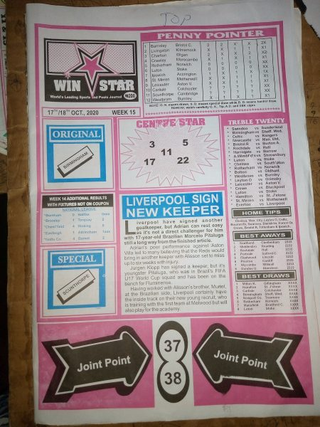 Week 15 Winstar 2020 Page 1