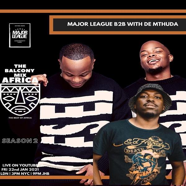 Major League De Mthuda Amapiano Live Balcony Mix