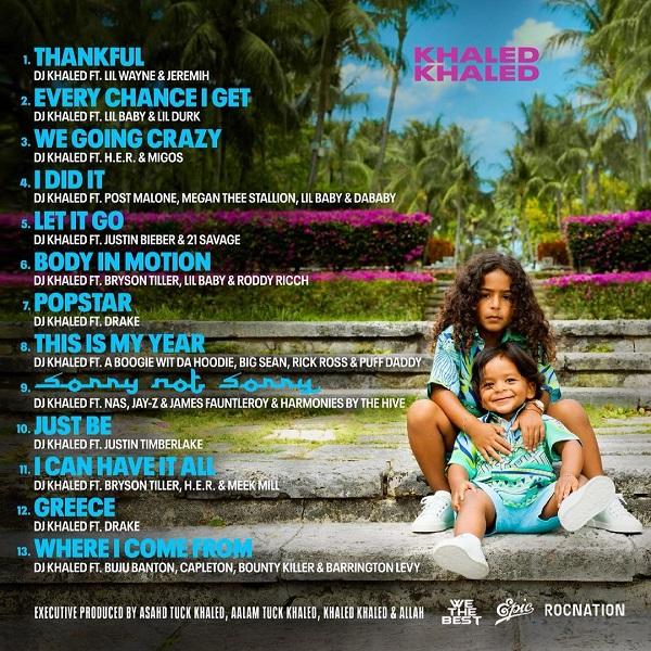 DJ Khaled Khaled Khaled Album Tracklist