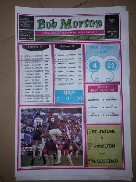 week 45 bob morton 2021 page 1